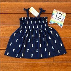 🆕 Baby Girl Pineapple Print Sundress - 12 months
